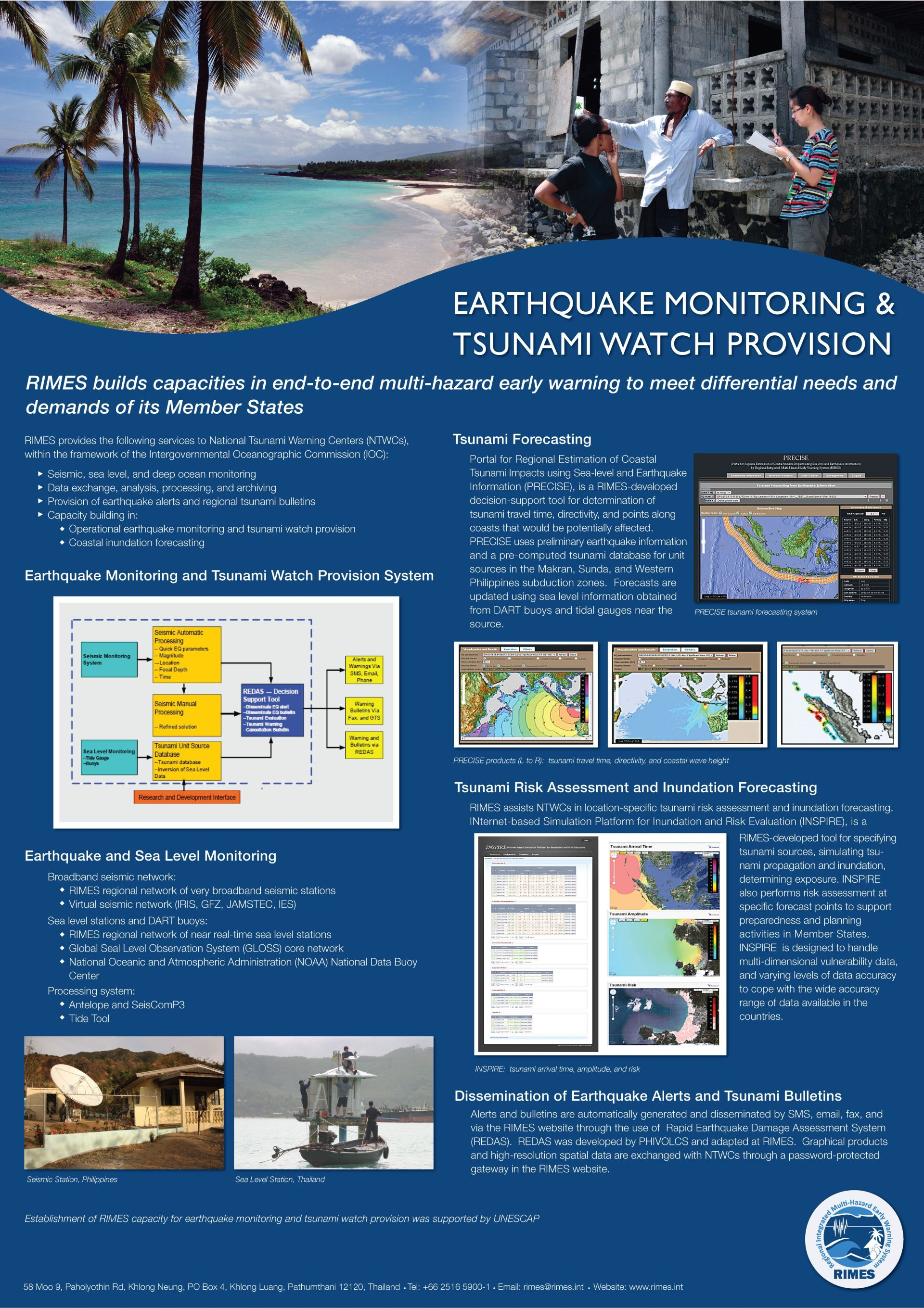 Earthquake and Tsunami Services