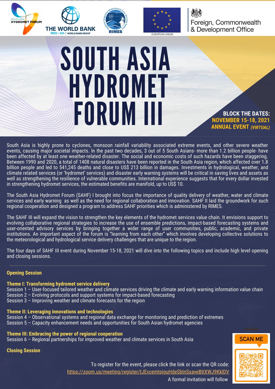 South Asia Hydromet Forum III